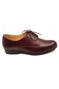 Pantofi Oxford barbati bordo din piele naturala