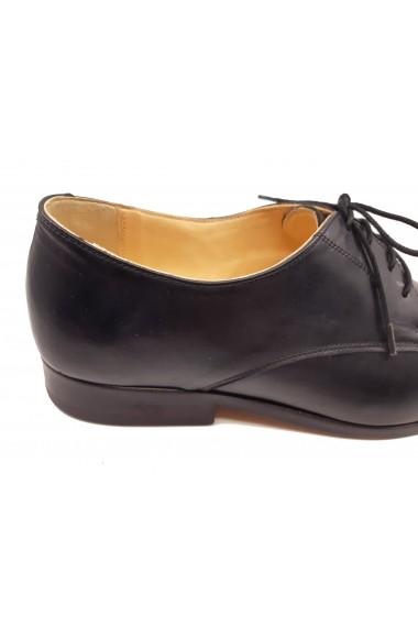 Pantofi Oxford negri barbati din piele naturala