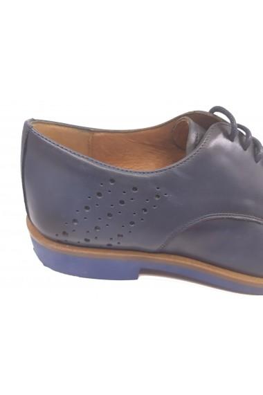 Pantofi eleganti bleumarin barbati din piele naturala