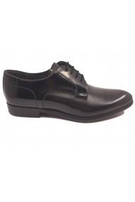 Pantofi eleganti negru lucios din piele naturala