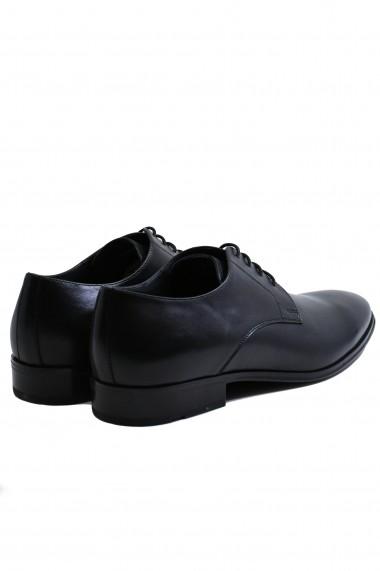 Pantofi negri eleganti pentru barbati din piele naturala