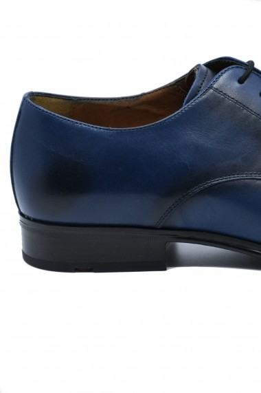 Pantofi eleganti bleumarin din piele naturala