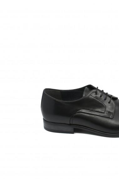 Pantofi negri Oxford din piele naturala de vita