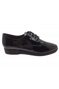 Pantofi dama Oxford negri din lac