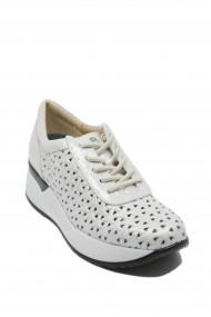 Pantofi dama Plata argintii din piele naturala