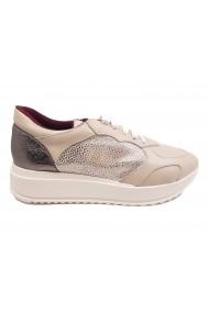 Pantofi sport Brigitte bej din piele naturala