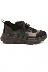 Pantofi sport Sandra negri din piele intoarsa