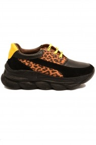 Pantofi sport Nady negri din piele intoarsa