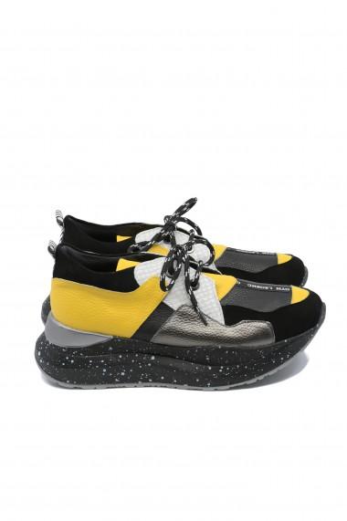 Pantofi sport dama ILI multicolori din piele naturala