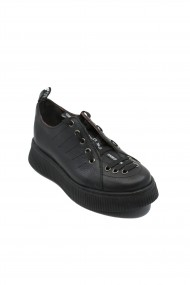 Pantofi sport dama Ayma negri din piele naturala