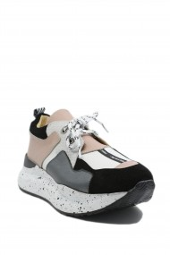 Pantofi sport dama ILI albi nude din piele naturala