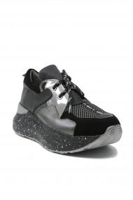 Pantofi sport dama ILI negri din piele naturala