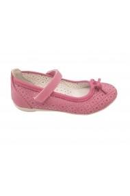 Balerini fete roz din piele naturala