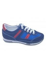 Pantofi sport baieti bleumarin din piele intoarsa
