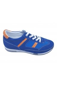 Pantofi sport baieti albastri din piele intoarsa