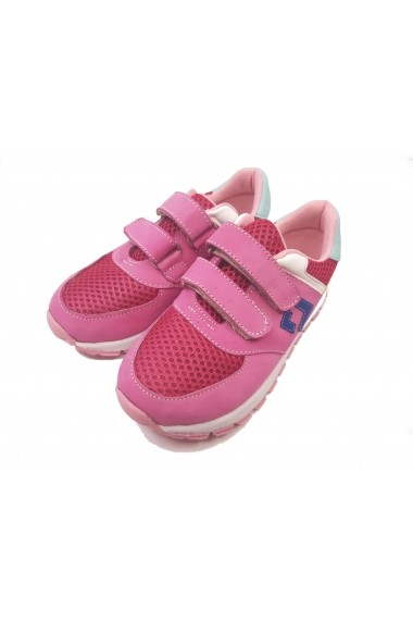 Pantofi sport fete roz din piele intoarsa