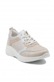 Pantofi sport dama roz sidefat din piele naturala