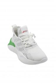 Pantofi sport dama albi din material textil impletit