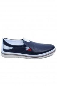Pantofi casual bleumarin barbati  din piele naturala