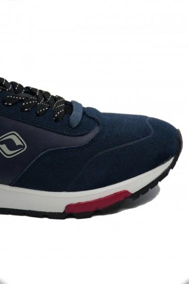 Pantofi sport barbati bleumarin din piele intoarsa