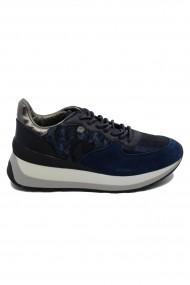 Pantofi sport dama bleumarin din piele intoarsa