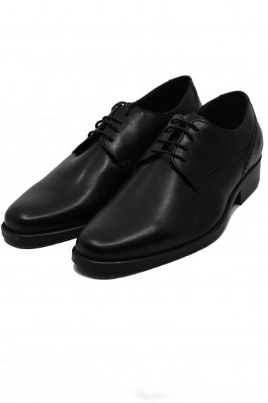 Pantofi barbati eleganti negri din piele naturala