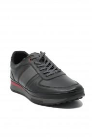 Pantofi sport barbati negru clasic din piele naturala