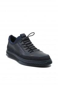 Pantofi slip-on barbati bleumarin din piele naturala