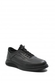 Pantofi comozi barbati negri din piele naturala