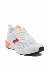 Sneakers albi dama din material textil plasa
