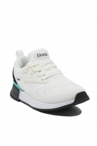 Sneakers dama Etonic albi din material textil