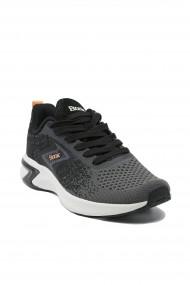Sneakers dama degrade negru-gri din material textil