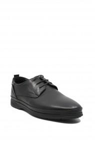 Pantofi casual anatomici barbati negri din piele naturala