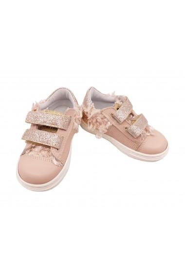 Pantofi fete sport roz pal din piele naturala