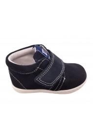 Pantofi sport baieti bleumarin din piele naturala intoarsa