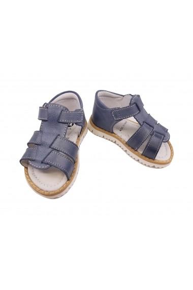 Sandale baieti bleu pastel din piele naturala
