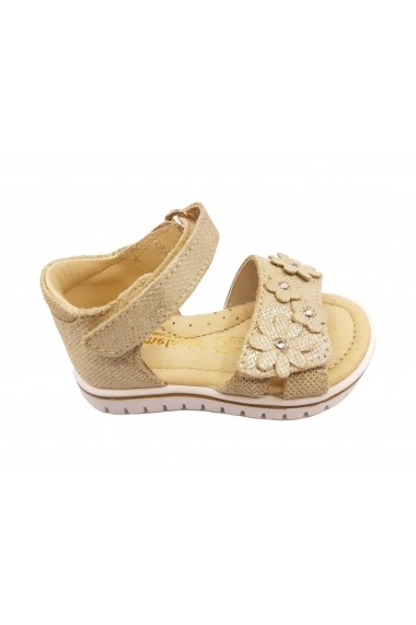 Sandale fete aurii din piele naturala intoarsa