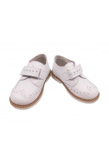 Pantofi unisex albi din piele naturala