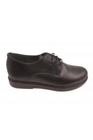 Pantofi baieti negru clasic din piele naturala