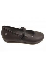 Pantofi fete negri din piele naturala