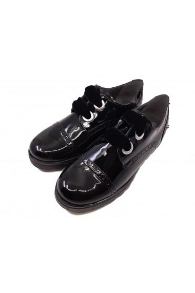 Pantofi fete Oxford negri din lac