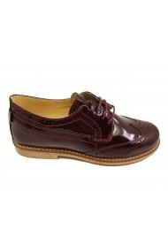 Pantofi dama Oxford bordeaux din lac