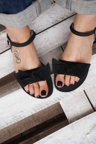 Sandale cu talpa joasa Funky Love  Negru