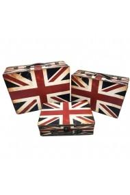 Set 3 cufere lemn England Flag