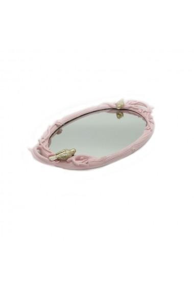 Tava de servire ovala din oglinda Roz