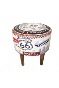 Scaun rotund Route 66 White