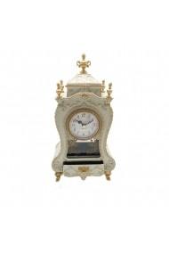 Caseta muzicala cu ceas si sertar bijuterii Antique  Crem