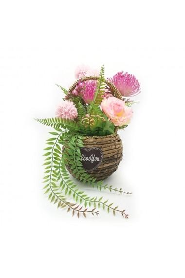 Aranjament floral  crizanteme  I love you
