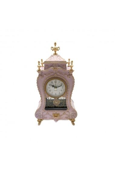 Caseta muzicala cu ceas si sertar bijuterii Antique  Roz pal