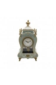 Caseta muzicala cu ceas si sertar bijuterii Antique  turcoaz pal